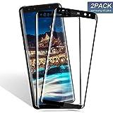 Aonsen Galaxy S9 Plus Verre Trempé, HD Protection d'écran [Lot de 2] [Ultra Résistant 9H Dureté] [Anti-Rayures], Compatible avec Galaxy S9 Plus - Noir