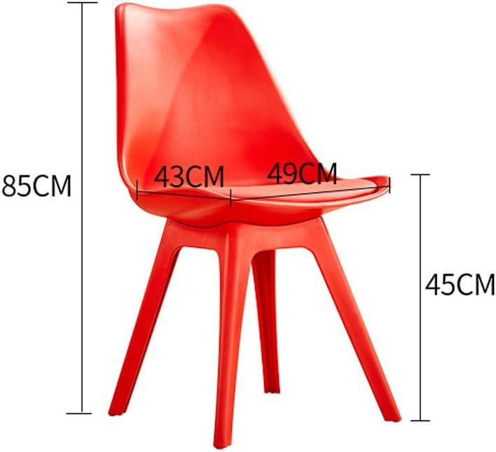 WDX- Home créatif moderne minimaliste en plastique à manger chaise mode (Color : F) F