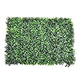 WEISHAN Paneles Artificiales de Boxwood, Cerca Topiary Hedge Plant, Faux Ivy Vine Hoja Hoja Artificial Hedge para OutdoorinDoor Steady by (Color : 01)