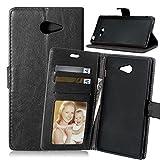 Fubaoda étui Folio en Cuir pour Sony Xperia M2 (D2403 D2406), [Syncwire Câble Gratuit] Cover Coque TPU Porte Cartes...