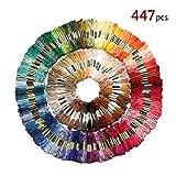 Hilos de Bordado de Hilo 447 madejas de Colores Bordados de Hilos de algodón de la Cruz de la Aguja de Bricolaje de Punto de Cruz de la Seda del Arte de Costura Hilo Dental Kit