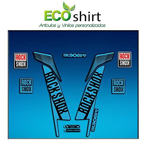 Ecoshirt 4D-Y1A2-JYTC Aufkleber Stickers Fork Rock Shox Boxxer World Cup 2016 Am78 Aufkleber Decals Autocollants Adesivi Forcela Gabel Rockshox, Hellblau