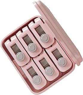 NIDONE Dekbedklemmen Naaldvrije Quilt Holder Hoge Elasticiteit Antislip Dekbed Clips Roze 6 Stks