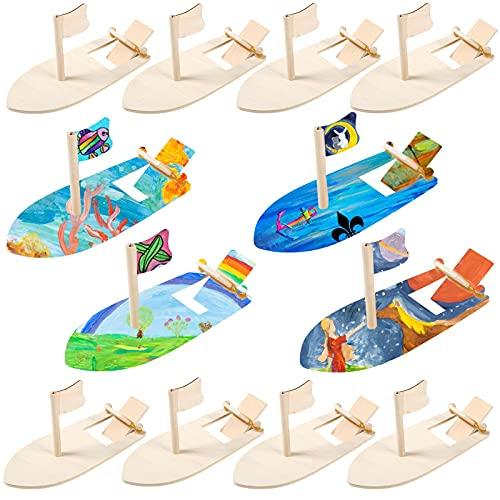 FORMIZON Holzboot Spielzeug, 12 Stück...