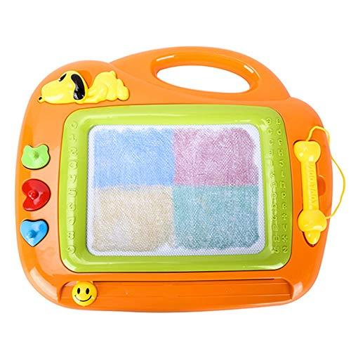 XuZeLii Caballete para Niños Junta Scribble Tablero de Dibujo borrable Tableta de Escritorio de Colores for niños niños de los niños Regalos Adecuados para Niños (Color : Orange, Size : 42.5x33.5cm)