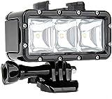 Yangers wasserdichte dimmbare Unterwasser-Video-Tauchlampe LED-Lichtaufsatz für GoPro Hero...