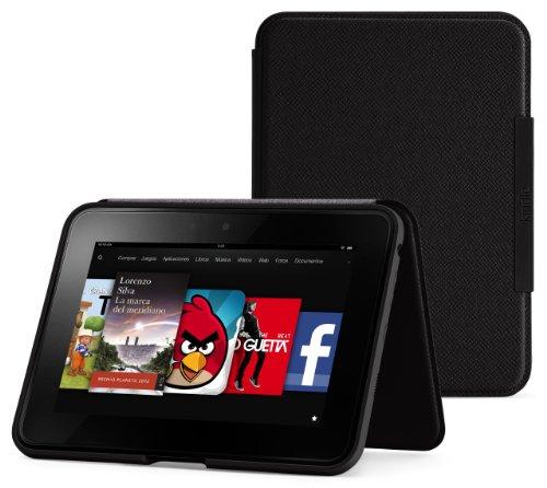 Funda de cuero con soporte para Amazon Kindle Fire HD 7', color negro ónix (Sólo sirve para el Kindle Fire HD 7' (generación anterior))