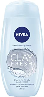 NIVEA Clay Fresh Body Wash, Blue Agave & Lavender, 250ml