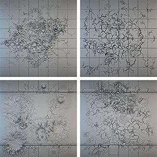 Miniatures Terrain Secret Weapon Miniatures Tablescape Tiles - Urban Streets, Display Board - Damaged (4)