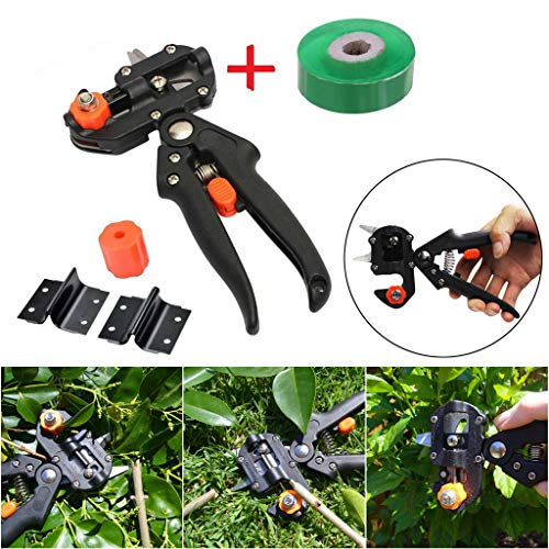 SUJING Garden Grafting Tool, Professional Garden Fruit Tree Pruning Shears Grafting Cutting Tool Kit Pruner Kit with Grafting Tape