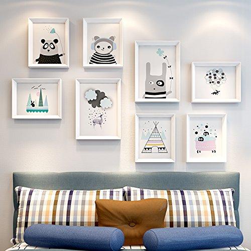 De inrichting van de kamer is een combinatie van een moderne, minimalistische restaurant wandschilderijen, 82 x 123 cm, 35 mm plaat, Pure White