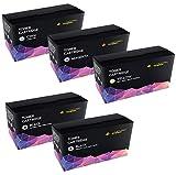 Cartridges Kingdom Pack de 5 Compatibles Cartuchos de Tóner para Xerox Phaser 6510 6510DN 6510N WorkCentre 6515 6515DN 6515DNI 6515DNW 6515N 6515NW