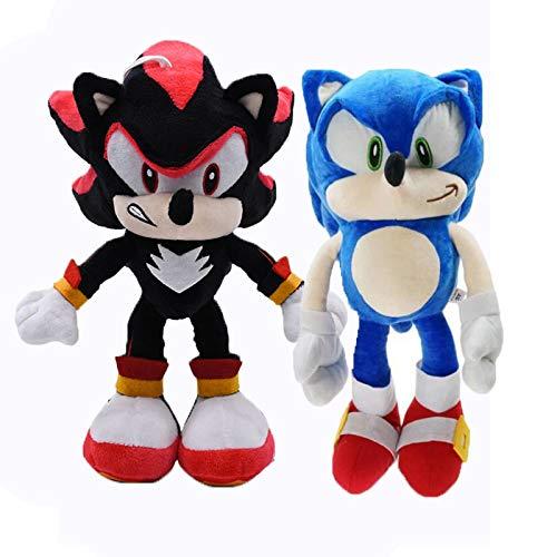 wyxin 2 Uds Sonic Plush Sonic Super Sonic The Hedgehog Juguetes De Peluche Sonic Shadow Knuckles Tails Cute Soft Stuffed Dolls 28Cm