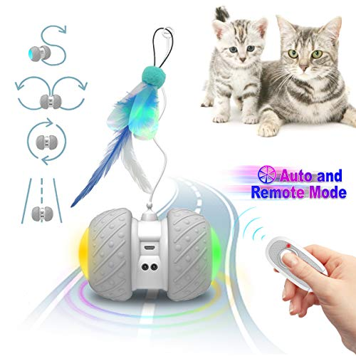 YicoGomo Smart Interactive Cat Toys - Cat/Kitten Pet Entertainment Hunting Exercise Toys- Robotic...