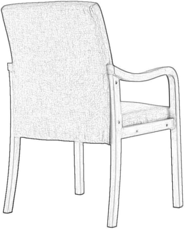 Chaise Latérale en Cuir PU Chaises À Manger Chaises Rembourrées De Loisirs avec des Jambes en Bois Massif sans Bras pour Salle À Manger Salon Chambre Cuisine Gray
