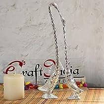 eCraftIndia Aluminum Showpiece Figurine (Silver_13 Inch) (ASWAN504_SIL)