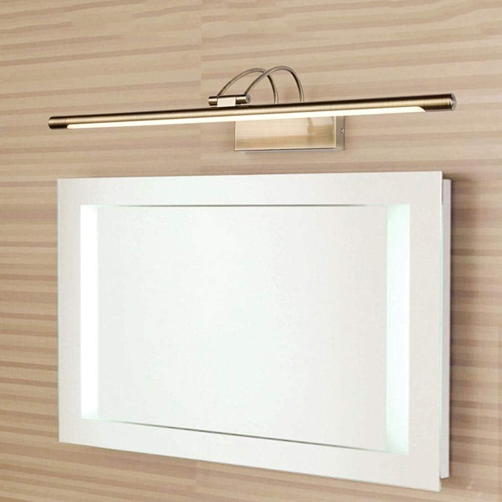 ,Spiegelleuchte LED Spiegel Scheinwerfer Bad Korridor Retro Spiegel Schrank Lampe Schlafzimmer Make-Up Lampe Wandleuchte .Spiegellicht (Color : Warm light-45cm) Warm Light-45cm