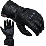PROANTI Motorradhandschuhe Regen Winter Leder Motorrad Handschuhe