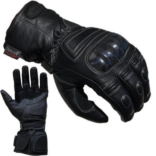 Motorradhandschuhe von PROANTI Regen Winter Leder Motorrad Handschuhe Größen: S-XXL