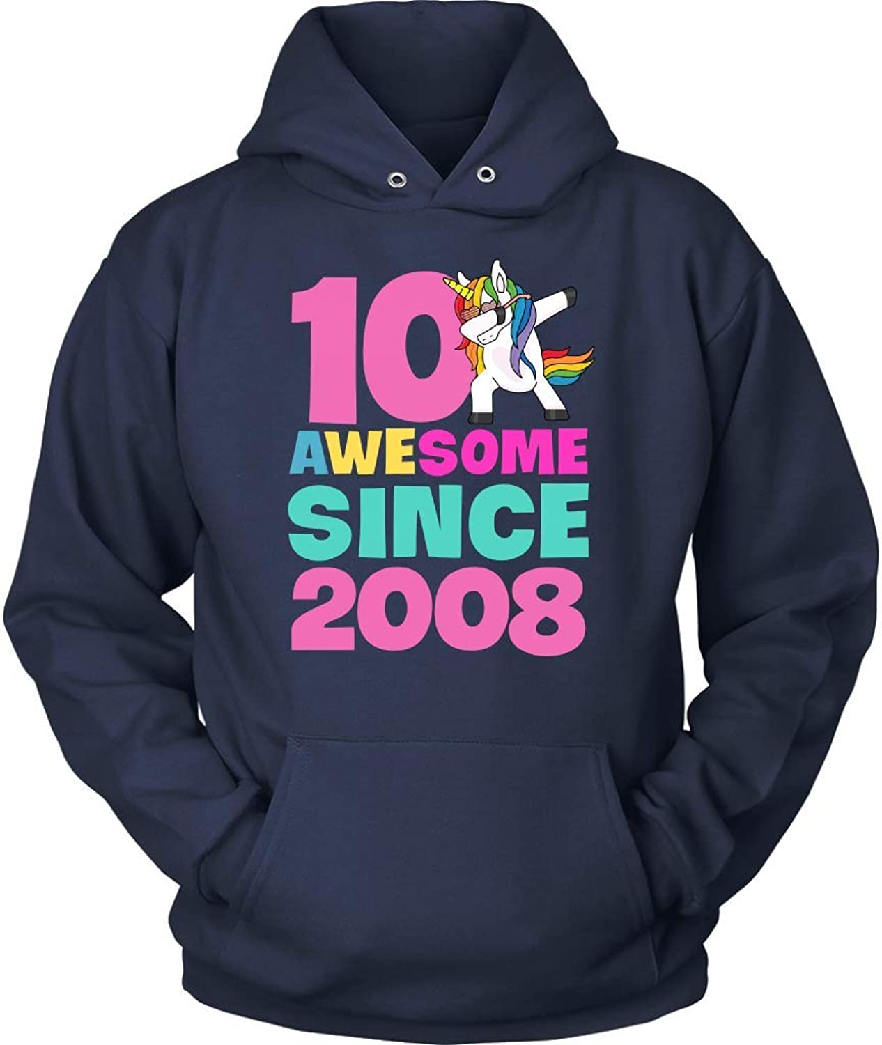 eb2a6fffe14 Awesome Awesome Awesome Since 2008 Shirt - Funny 10th Birthday Party  T-Shirt Youth Hoodie 74f966
