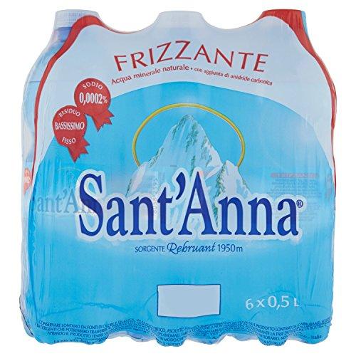 Sant'Anna Acqua Minerale Frizzante, 6 x 0.5L