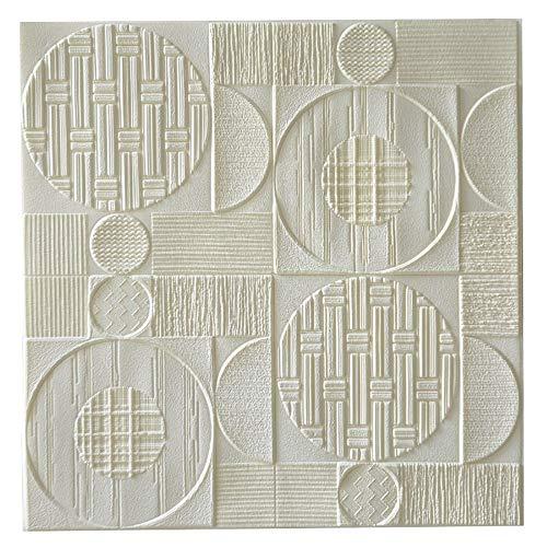 H&RB Los Paneles De Espuma PE De Pared, De La Pared del Arte 3D Auto-Adhesivo Pegatina para El Dormitorio Baño Sala De Ministerio del Interior De Bricolaje 70 X 70Cm,01,1PCS