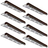 LEONLITE 8-Pack 12 Inch 3W LED Hardscape Paver Light, 12V Low Voltage AC/DC, Retaining Wall Lights Outdoor, IP65 Waterproof Step Lighting, Soft White 2700K, ETL Listed, 40,000 Hours Lifespan