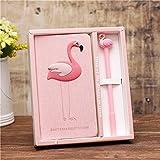 Rosa Notizbuch Flamingo Briefpapier Tagebuch,Notebook mit Stift für Mädchen Geburtstags Geschenke