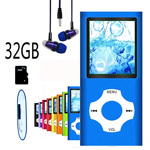 MP3 Player / MP4 Player, Hotechs MP3 Music Player with 32GB Memory SD Card Slim Classic Digital LCD 1.82
