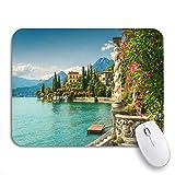COFEIYISI Mauspad,Office Mauspad(240 * 200mm),Berühmte Luxusvilla Monastero Atemberaubender Botanischer Garten Dekoriert Mittelmeer,Rutschfeste Mousepad Matte für PC
