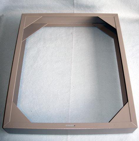 Boekel 141001 Modular Slide Storage Cabinet Base with Rubber Feet, 15-3/4' W x 18-3/4' D x 2-3/4' H