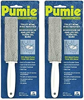 Pumie Toilet Bowl Ring Remover, TBR-6, Pumice Stone with Handle, Removes Unsightly Toilet Rings and Stains from Toilets; Sinks; Tubs; Showers, Safe for Porcelain, Pack of 2