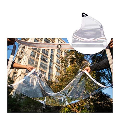 AOTNZ Cubierta De Lona Transparente, Tarea Pesada Resistente Al Desgarro PVC Impermeable Paño De Lluvia con Ojales, Claro Lona De Vinilo para Exterior Cubierta De Jardín, Toldosr