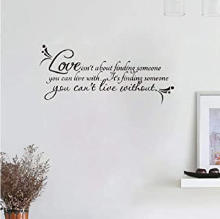 Love Wall Quotes Decal Room Decor Love Isn't About Finding. Vinyl Wall Stickers Ebay 60x45cm
