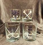 Golf Cocktail Glasses, Personalized Whiskey Glass, Custom Golf Gift, Golf Birthday, Father's Day, Golf Glasses Set, Golf Wine Glasses