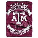Texas A&M Aggies 'Rebel' Raschel Throw Blanket, 60' x 80'