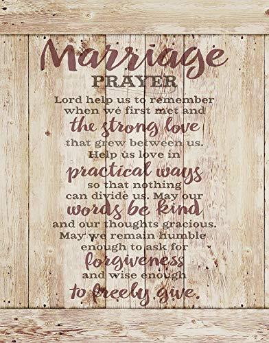 Marriage Prayer Wood Plaque Inspiring Quote 11.75