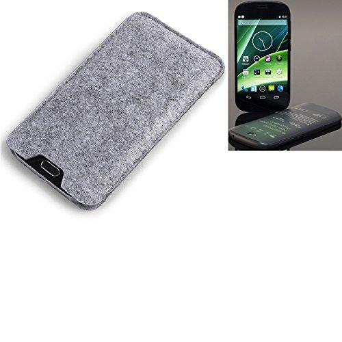 K-S-Trade Filz Schutz Hülle Für Yota YotaPhone 2 Schutzhülle Filztasche Filz Tasche Hülle Sleeve Handyhülle Filzhülle Grau