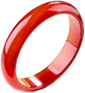 Chinese Style Red Agate Jade Bangle Bracelet for Women
