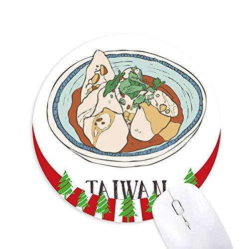 Essen Rindfleisch Nudeln Taiwan Reise Rund Gummi Maus Pad Weihnachtsdekoration