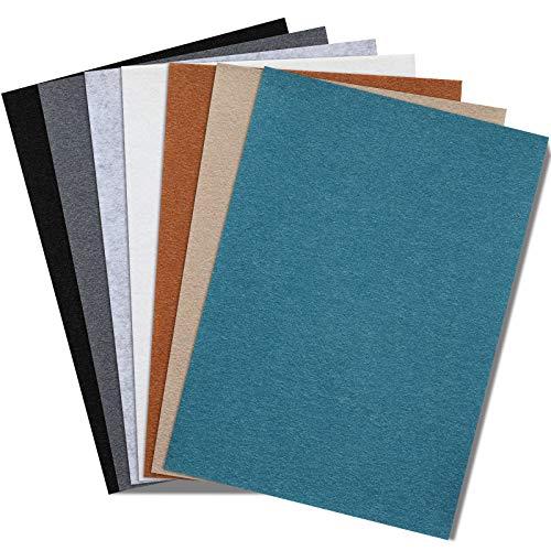 7 Stück A4 Filz Stoff Blätter, 7 Farben Filz Blätter Handwerk, Quadrate DIY Filz Blatt für DIY Handwerk Nähen Patchwork