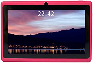 YUNTAB 7 inch Android Tablet - 1.5 Ghz Quad Core CPU, with WiFi, 1GB RAM, 8GB ROM, 1024x600 HD Touch Screen, Pre-Loaded Google Play Store & Games, Dual Camera(Pink)