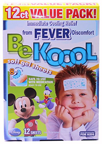 Sale!! Be Koool Fever Soft Gel Sheets For Kids, Immediate Cooling Relief from Fever Discomfort, 12 S...