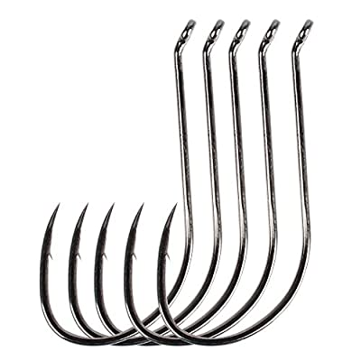 Dr.Fish Sea Fishing Hooks Job Lot 30 Packed Barbed Offset Carp Pike Fishing Soft Bait Fishing Drop Shot Hooks X-Strong 1/0-10/0 by Dr.Fish