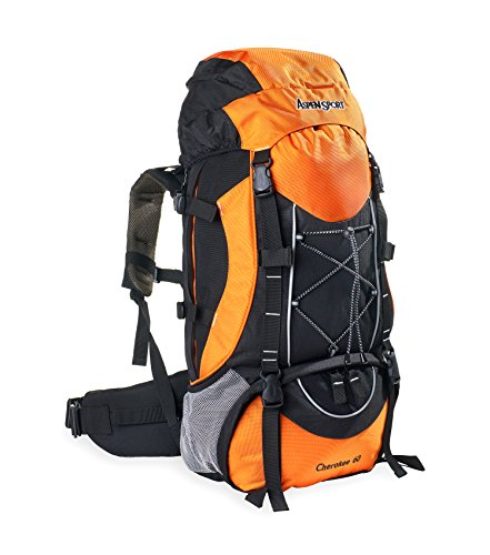 AspenSport Unisex Cherokee 60 Mochila, Color Naranja, tamaño Talla única, Volumen Liters 60.0