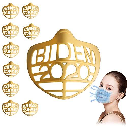 Akche 10 Stück 3D-Maskenhalterung für Erwachsene, Innenstützrahmen für komfortables Atmen, schützt Lippenstiftlippen, interner Stützrahmen für die Nase und Atmung