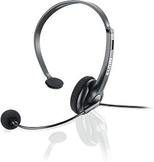 Headset para telefonista ou posição de atendimento com conector RJ Elgin, Elgin, F021NSRJ, Preto