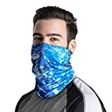 Palmyth Neck Gaiter Fishing Mask Bandana Sun Wind Dust Protection UV UPF 50+ Camo Headwear Balaclava Magic Scarf for Men Women Hunting, Cycling, Motorcycling, Running (Sea Waves)