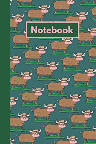 Highland Cow Notebook: Cow Themed Composition Lined Journal, Ideal for any Highland Cow Enthusiast or Farm Hand. (Can be Used as Cow Lovers Notebook or Farmers Log)