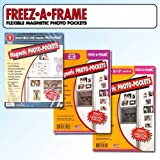 Clear Magnetic Picture Frames, Set of 4'x6', 5'x7' & 8.5'x11' Magnetic Photo Frames for Refrigerator, Freez-A-Frame